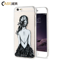 CASIER Girl Flower Case For iPhone 7 6 6s Case iPhone 5s se Cases For Samsung Galaxy S7 S6 Edge Embossed Soft TPU Cover Shell 4