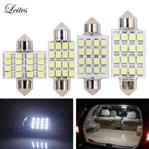 Leite 500 шт 31 мм 36 мм 39 мм 41 мм 3528 1210 SMD 16 светодиодный Авто купольная гирлянда для интерьера карта лампы для DC 12V