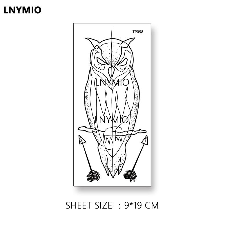 2pcs NYTT tatoveringsugle og pingvin midlertidig tatoveringsklistre - Tatovering og kroppskunst - Bilde 2