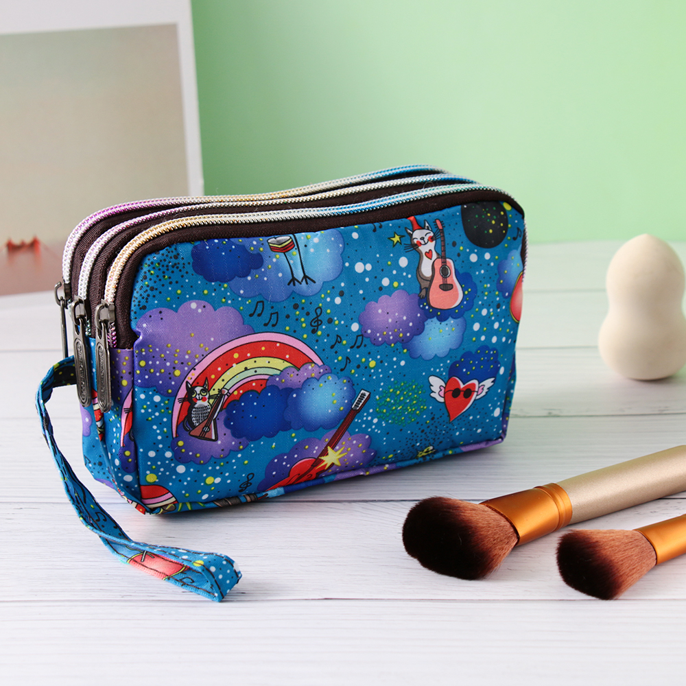 2019 New Fashion Women Flower Makeup Bag Lady Waterproof Canvas Clutch Mini Handbags For Party Cell Phone Bags Cosmetic Bag Hot