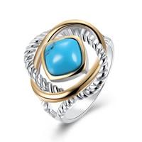 turquoise ring rings for women vintage anelanillos aneis bague anel feminino anillos mujer aneis feminino anillo bijoux femme