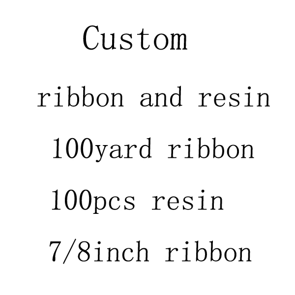 Free shipping 100yard 7 8inch grosgrain ribbon and 100pcs planar resin custom exclusive