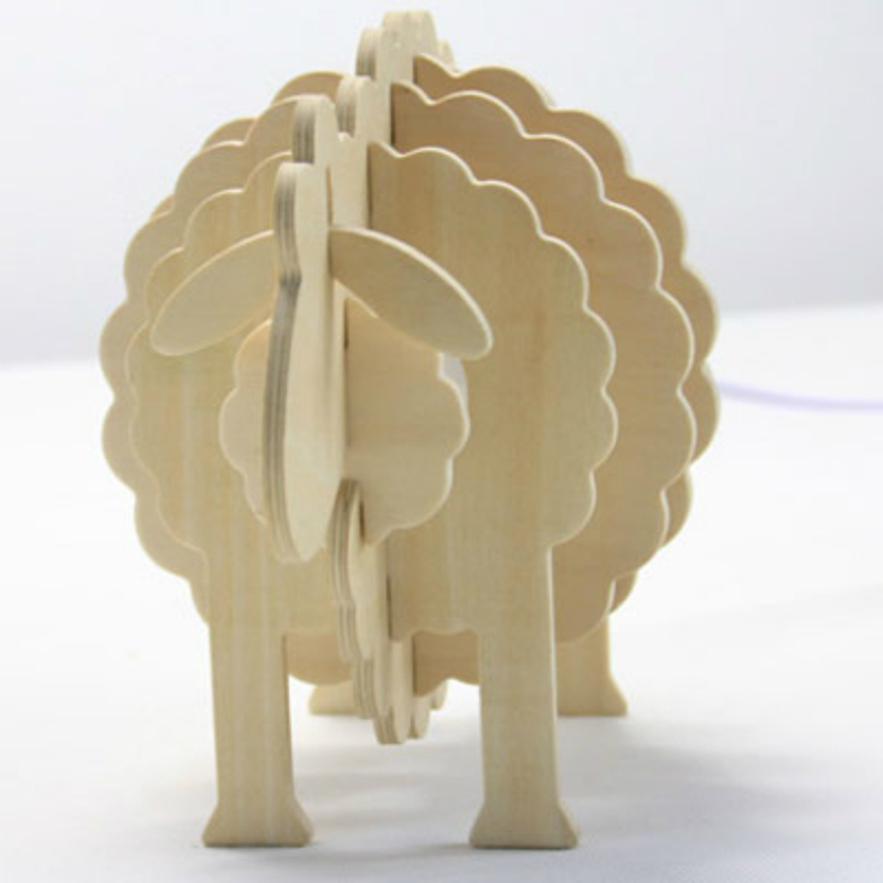 Cute Adorable Bleating Sheep Lamp Base Diy Handmade Wooden Reading Table Lamp For Sale Figurines Miniatures Aliexpress