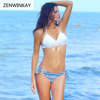 2017 Summer Sexy Push Up Swimsuit Women Crochet Bikini Swimwear Brazilian Thong Bathing Suits Female Swim