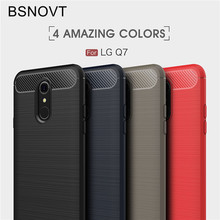 BSNOVT For LG Q7 Case G7+ Cover Shockproof Silicone Brushed Phone Back Plus Q7a Q7+ Fundas 5.5