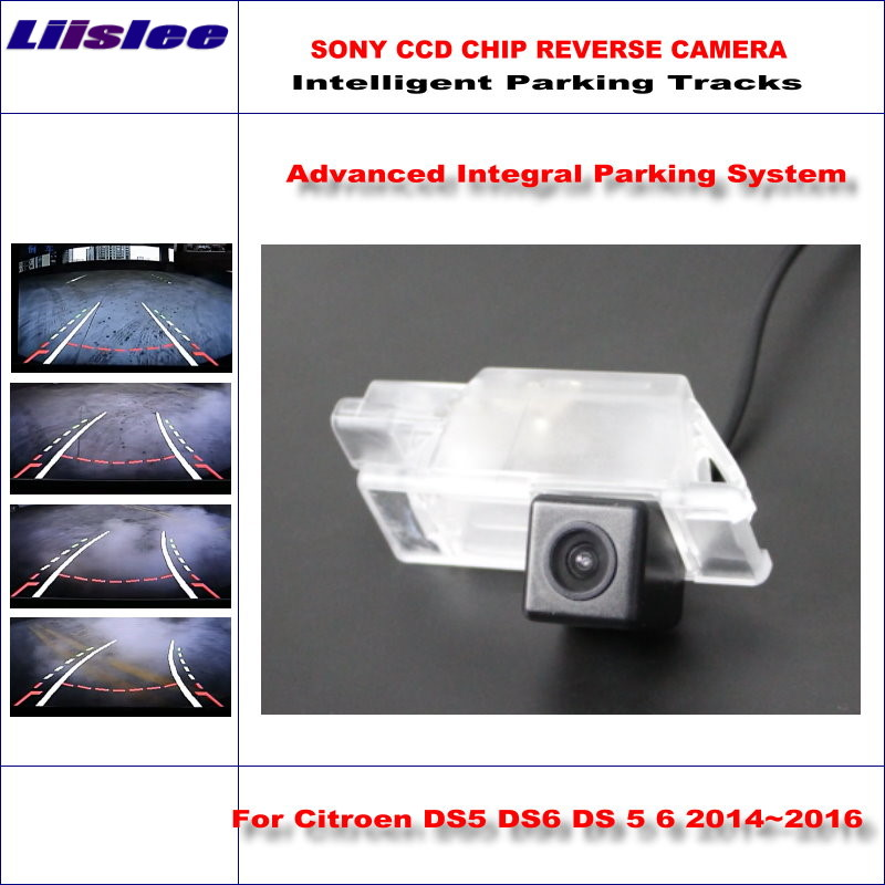 Liislee Dynamic Guidance Rear Camera For Citroen DS5 DS6 DS 5 6 2014~2016 / HD 860 * 576 Pixels Parking Intelligentized