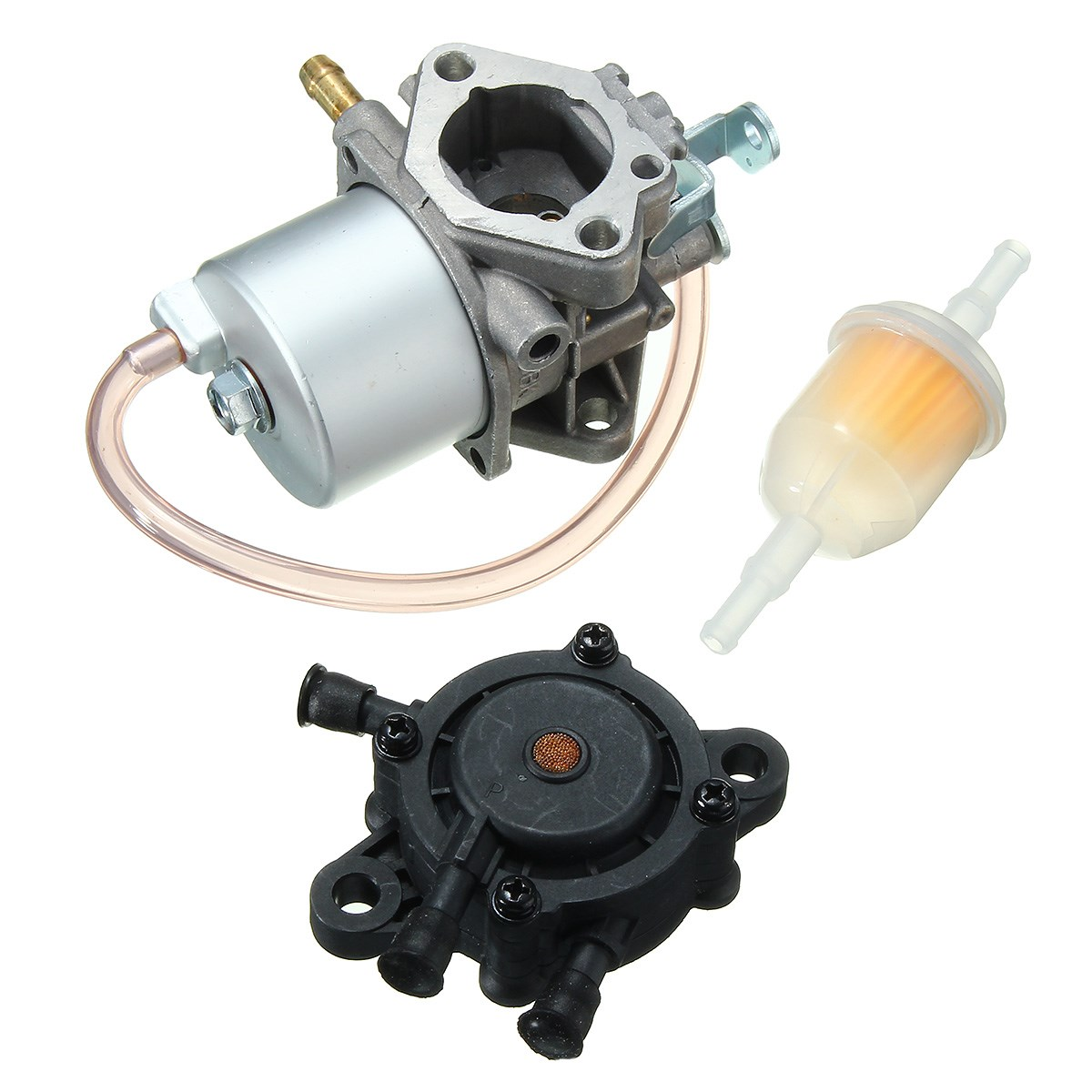 Carburetor with fuel gas pump filter for club car fe290 ds golf cart 1992