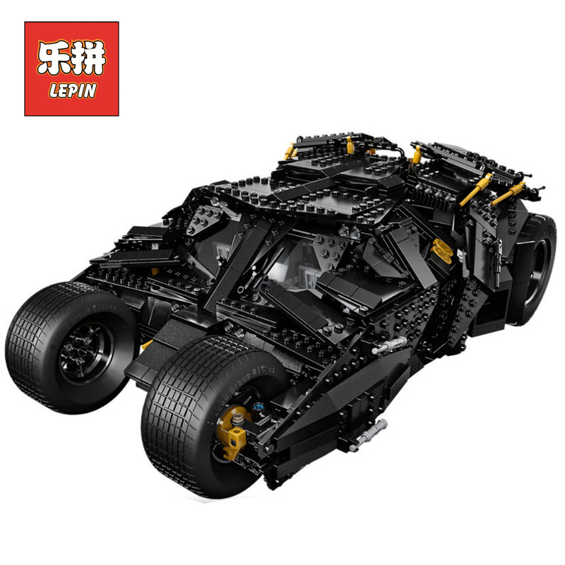 LEPIN 07060 Super Series Heroes Movie the Batman Armored Chariot set DIY Model Batmobile Building Blocks Bricks Children Toys lepin 07056 775pcs super heroes movie blocks the scuttler toys for children building blocks compatible legoe batman 70908