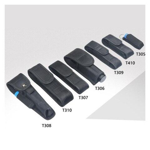 cada tamanho do caso lanterna nylon holster suporte adesivo cinto caso bolsa para lanterna led