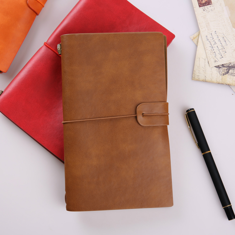 Retro Vintage Traveler's Diary Journal Sketchbook Planner PU Leather Business Paper Notebook Gift Stationery Supply