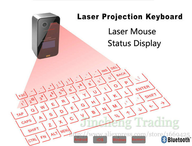 Mini Bluetooth Virtual Laser Projection Keyboard With Mouse Screen Display Infrared Magic Cube For