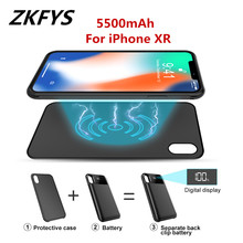 Battery Case 5500mAh High Quality External Wireless Magnetic Charger Power For iPhone XR Bank