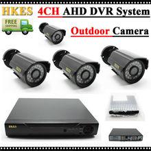 HKES 1080N HDMI DVR 1200TVL 720 P HD Extérieure de Sécurité À Domicile Système de caméra 4CH CCTV Vidéo Surveillance DVR Kit AHD Caméra ensemble