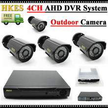 HKES 1080N HDMI DVR 1200TVL 720P HD Out of doors Residence Safety Digicam System 4CH CCTV Video Surveillance DVR Equipment AHD Digicam Set