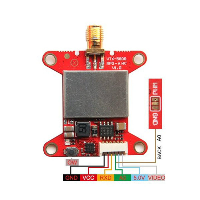 VTX-5808 PRO-A HV 40CH 25mW/200mW/500mW/800mW Adjustable Analog Video FPV Transmitter for RC Models Racing Drone Spare Parts eachine ts5840 upgraded 40ch 5 8g 200mw wireless av transmitter tx for fpv multicopter