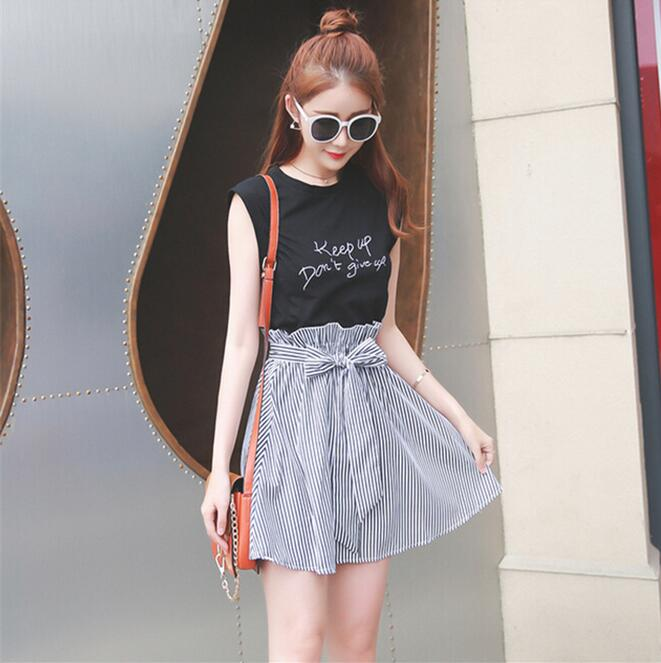 Korean Fashion Women Summer Dress 2016 Sleeveless Casual Striped Patchwork Ladies Office High Street Short A Line Party Dresses In From Womens