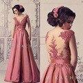 Свадебные платья феста вечерние платья глубокий V шея блестками линия тафта искра вечерние платья арабский