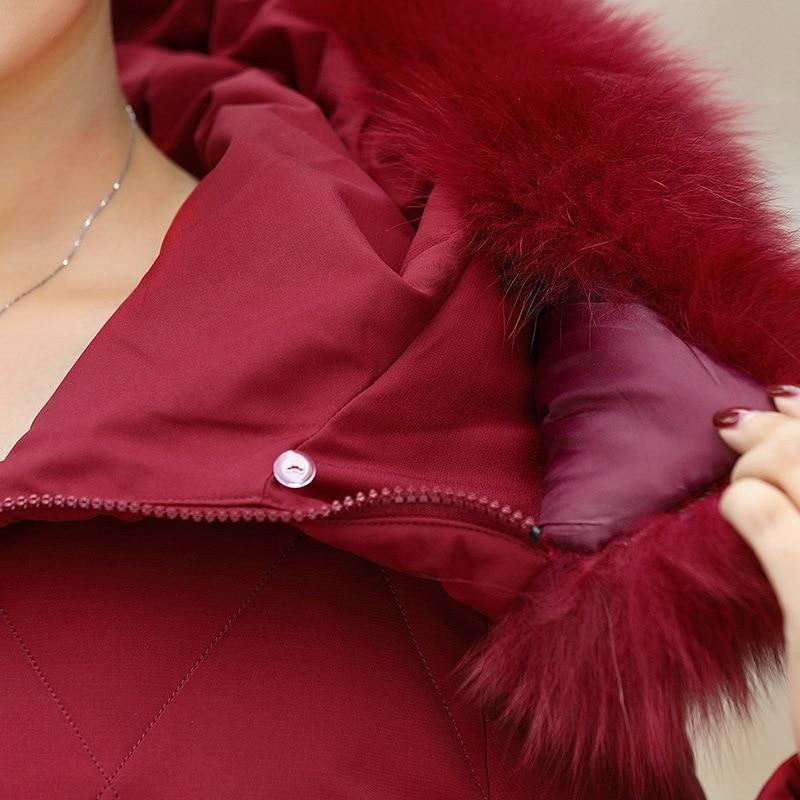 2019 новая зимняя куртка пуховик из белого утиного пуха Женская средней длины с капюшоном плюс размер куртка женская тонкая пуховая куртка из... - 5