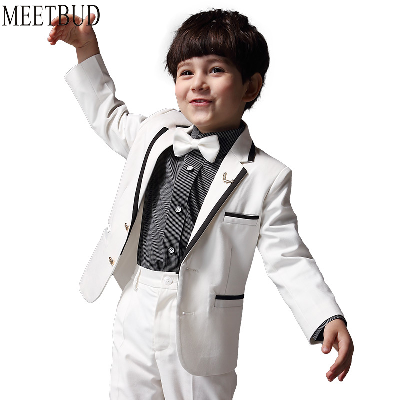 MEETBUD Baby Boys Kids Suits For Wedding blazers Slim Children Spring Autumn Casual Dress Suit 2018 New Piano White Suit boys suit new spring autumn teen boys single breasted blazers casual wedding coat jacket children s top clothing kids clothes