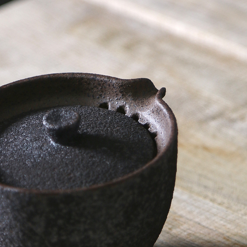 Rust-Glazed Ceramic Portable Gaiwan Tea Set 3