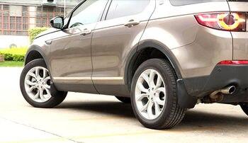 Black engineering plastics Splash Guards Mud Flaps Mud Guards 4pcs For Land Rover Discovery Sport 2015 2016