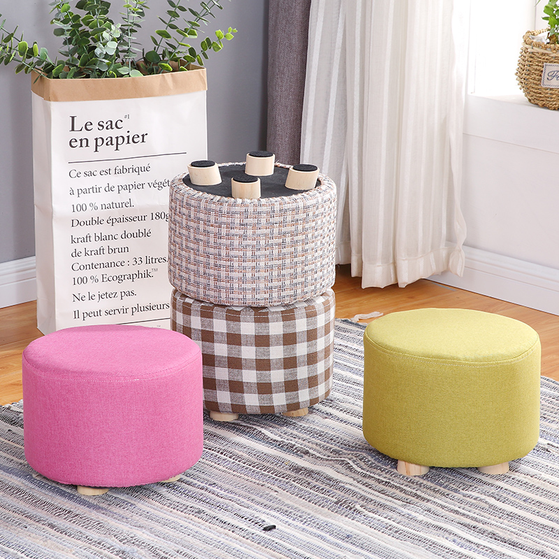 Enjoyable Color G Stools Solid Wood Creative Shoes Bench Fabric Theyellowbook Wood Chair Design Ideas Theyellowbookinfo