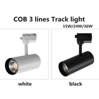 COB 15w 24w 36w Led Rail Track lamp Spot Rail Spotlights Replace Halogen Lamps for clothes Store AC 100 240 V