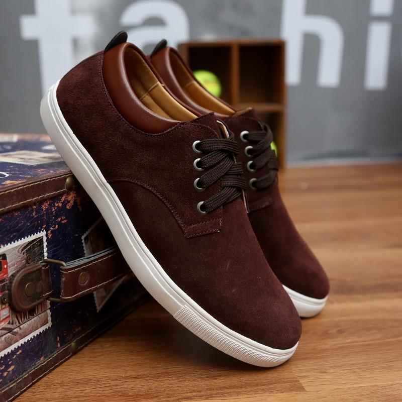2018 Jauns modes zamšādas vīriešu dzīvoklis apavi audekls apavi - Vīriešu apavi - Foto 5