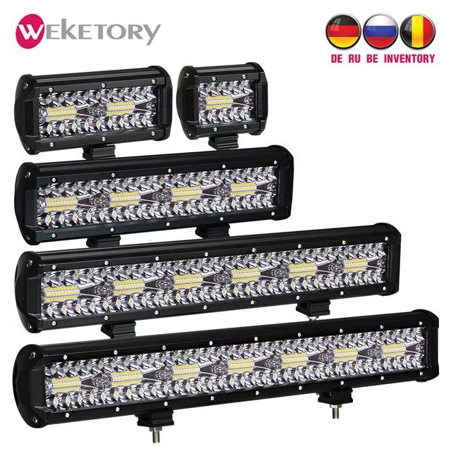 3 Rows LED Bar 4 - 32 inch LED Light Bar LED Work Light for Car Tractor Boat OffRoad 4x4 Truck SUV ATV Driving 12V 24V