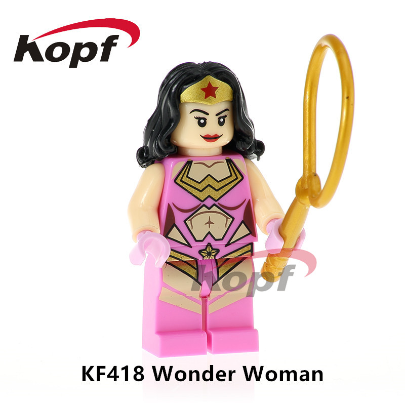 Building Blocks Super Heroes Single Sale Wonder Girl Wonderwoman Human Torch Snake Eyes Dolls Bricks Children Gift Toys KF418 ...