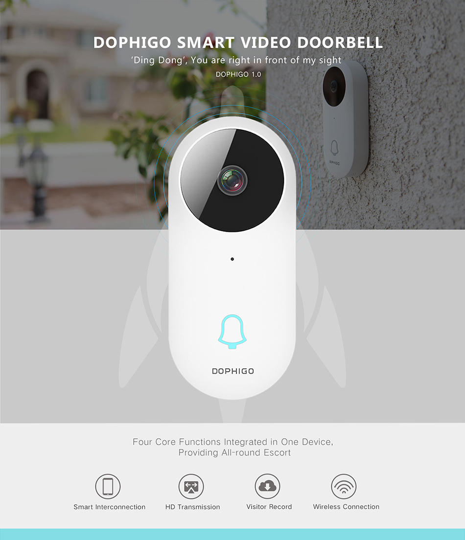 Bluetooth Wifi Wireless Video Doorbell 1