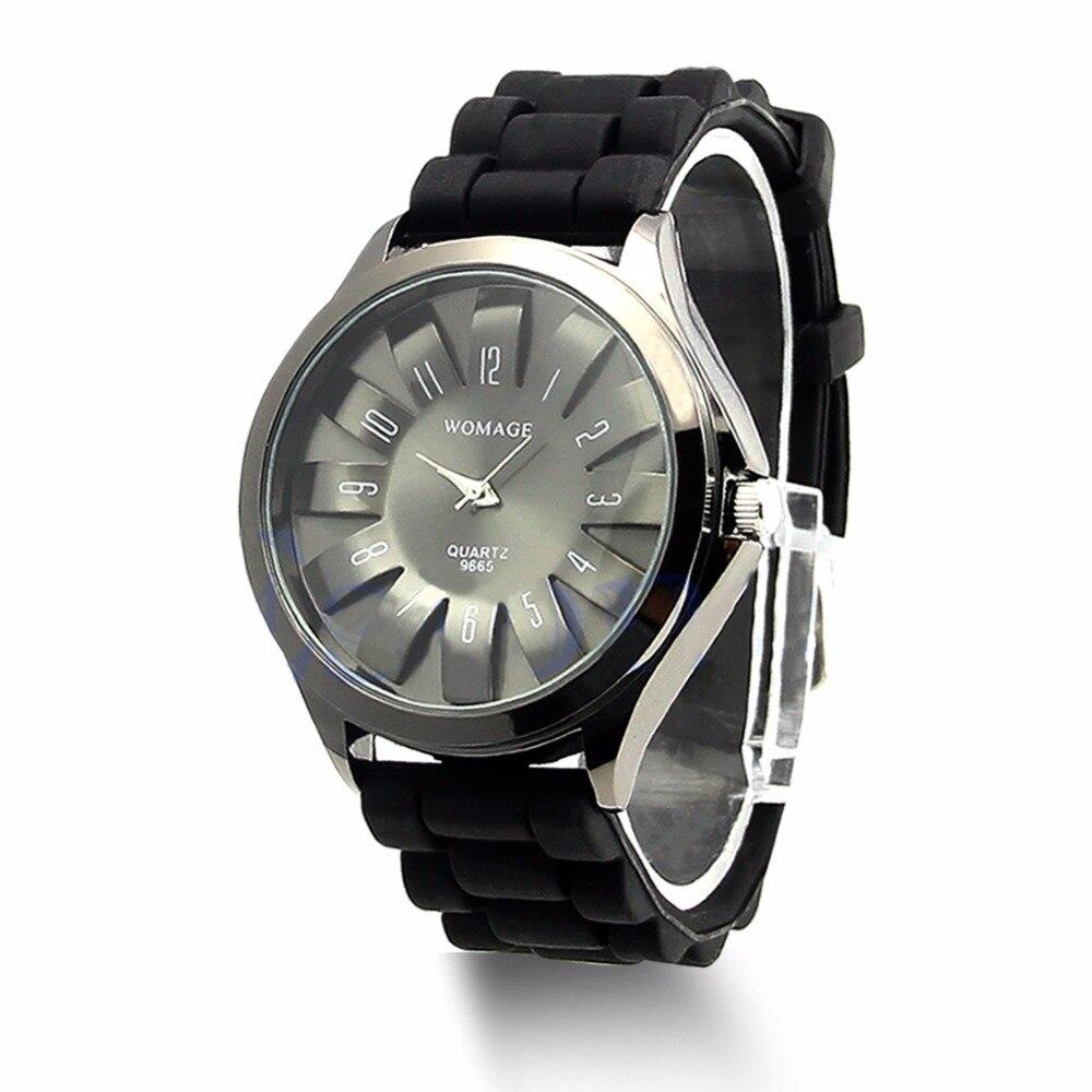 Couple Quartz Wrist Watches Boys Girls Geneva Silicone Jelly Golden Sports  relogio saat 15d4c71b34a03