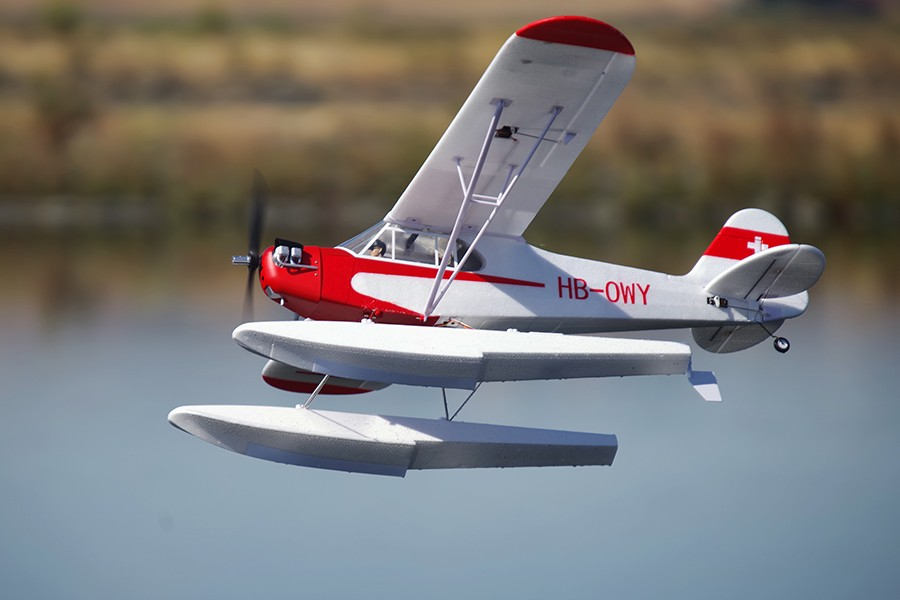 FMS RC Airplane 1400MM 1.4M J3 Cub V3 Red Trainer Beginner PNP Scale Model Plane Aircraft J-3 (Floats optional) kyosho airium piper j 3 cub ve29