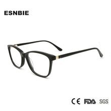 ESNBIE Diamond Acetate Glasses Women Eyewear Optical Frames Prescription Womens Myopia Eyeglasses Oculos De Grau Feminino