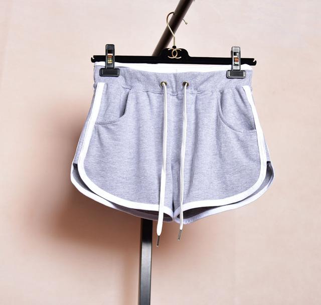Calções de treino para mulheres calções calções de ginástica branco plus size suor moletom preto senhoras algodão cinza desgaste do exercício