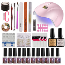 hot deal buy choose 6/12 gel nail polish nail sequins top base coat primer set 36w uv led nail dryer nail art gel varnish manicure tools kit