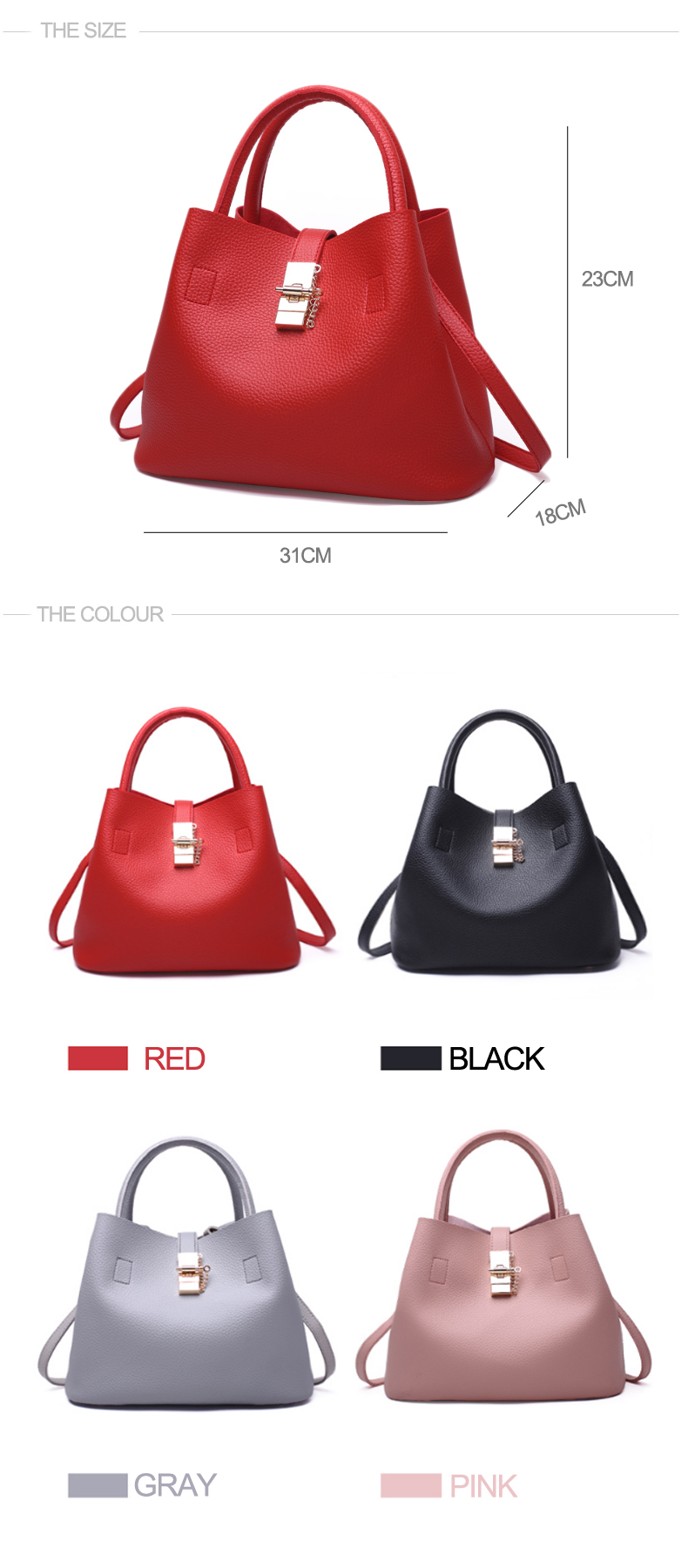 Explosion promotion in 2019, low price one day snapped up, Handbags, Fashion  Shoulder Bags pink one size 10