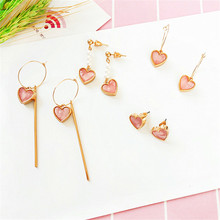 цены Pearl earrings fashion delicate geometric heart earrings girl long earrings temperament simple fresh earrings wholesale