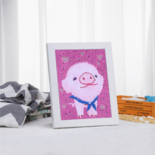 Toys Embroidery Diamond-Painting Cross-Stitch Rhinestone Home-Decor Round Full Pig Special-Shaped