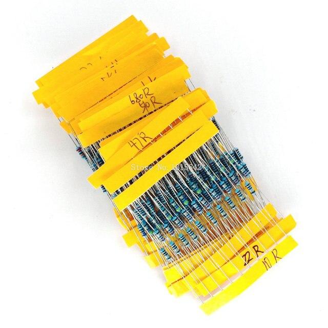 1 Pack 300Pcs 10 -1M Ohm 1/4w Resistance 1% Metal Film Resistor Resistance Assortment Kit Set 30 Kinds Each 10PCS 1