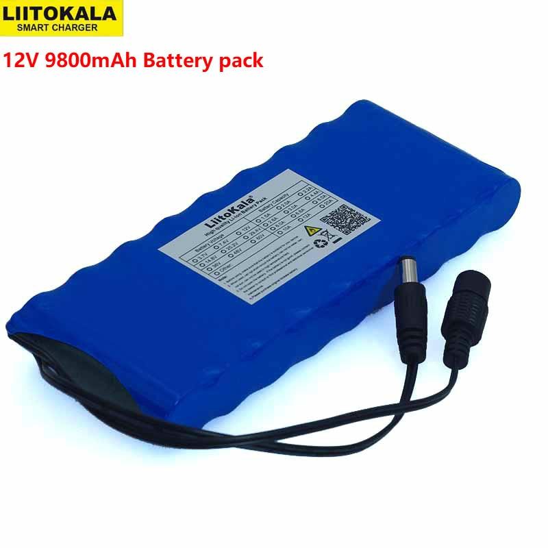 12 V 9.8Ah 9800mAh 18650 Rechargeable Batteries 12.6V Li-Ion Battery Pack Protection Board CCTV Monitor Battery DC 5.5*2.1mm