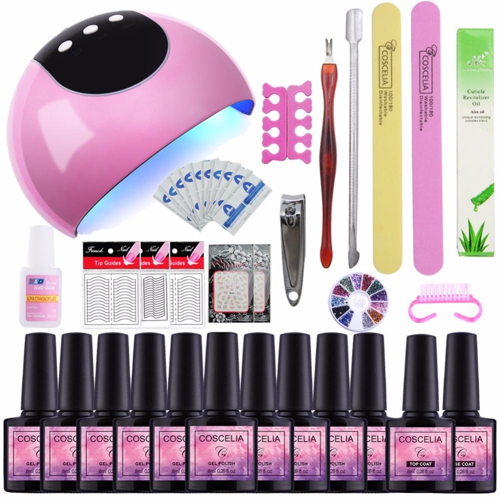 COSCELIA 24W Nail Dryer Manicure Set Tools For Manicure