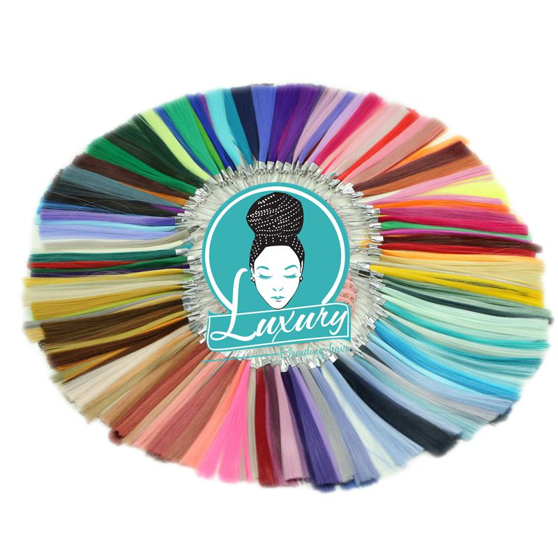 Luxury For Braiding Henlon High Temperature 154 Colors Synthetic Color Ring Chart  Palette For Custom Ombre Braiding Hair