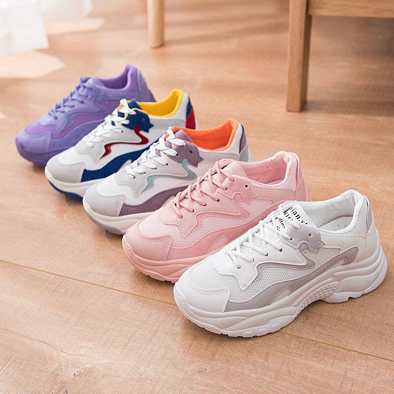 Bleu Pourpre Marche Blanc De Rose Nouvelles Baskets Confortables X80PknOw