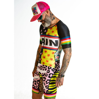 Love the pain Triathlon Cycling Jersey Quick Dry Short Sleeve Cycling Skinsuit Bike Jersey Clothes For Swimming Running Riding