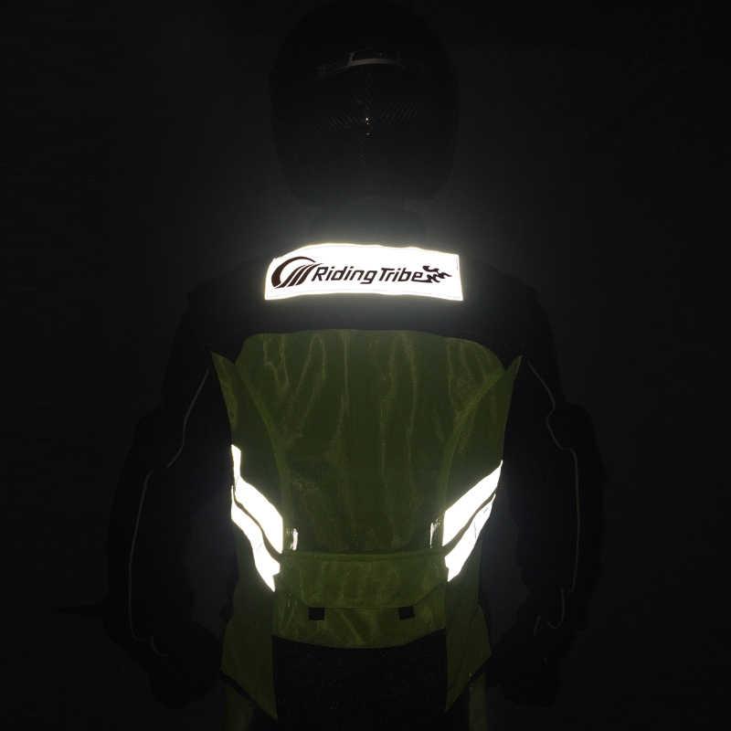 En la tribu de la motocicleta chaqueta sin mangas de seguridad Moto Motocross chaleco chaqueta reflectante tela de trajes de chaleco de Moto 22