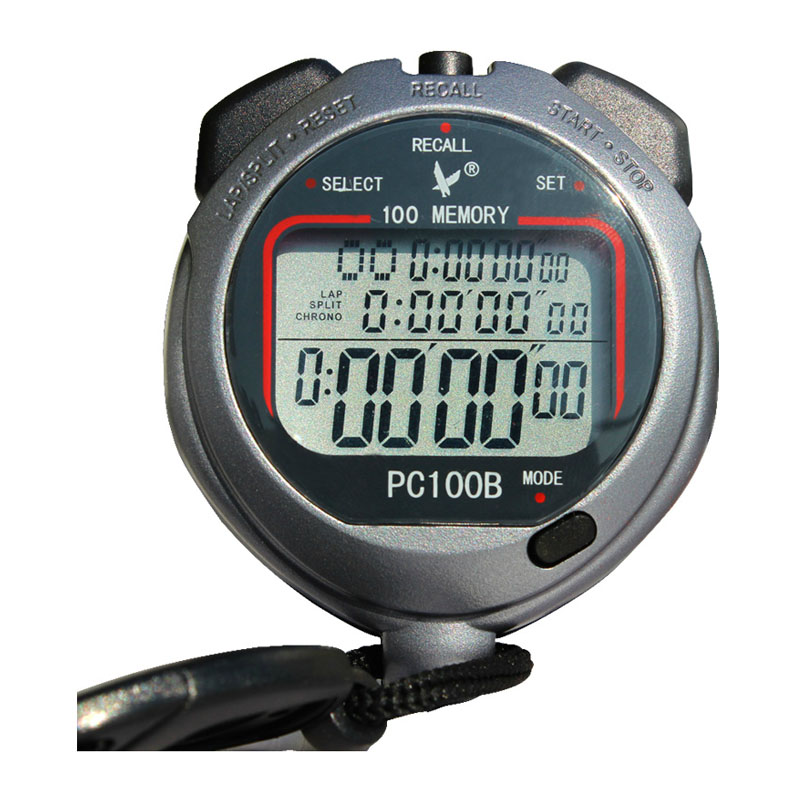 100 Memory Stopwatch Digital Electronic Professional Running Chronograph Sports Track And Field Referee Stopwatch