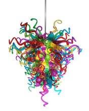 Люстры из дутого стекла ручной работы подвесная светодиодная
