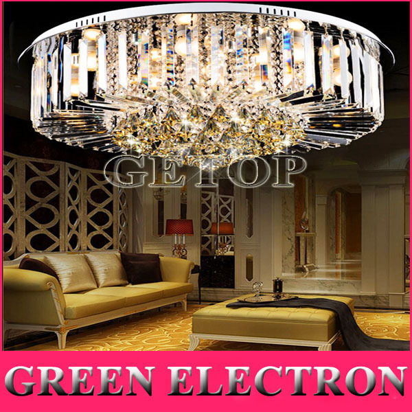 Modern Round K9 Crystal Ceiling Lamp LED Chandelier Lighting Lamps Living Room Restaurant Crystal Lights Free Shipping free shipping high quality modern crystal ceiling lamp golden crystal ceiling lighting sy4062 4l d500mm ac 100