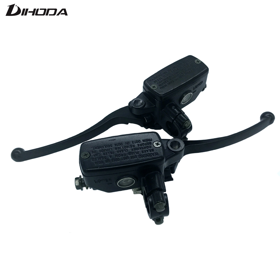 Universal 16mm Black 7/8 22mm Motorcycle Front Brake Clutch Master Cylinder Motorbike Hydraulic Pump Motorbike Brake Lever black universal motorcycle bike front lever switch brake clutch through hole cable 2 wires